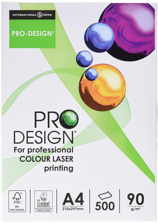 Pro Design 10260059101 - Risma di carta per stampante laser a colori, A4, 160 g, 250 fogli, colore bianco