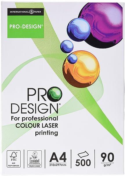 Pro Design 10260059047 - Papel para impresora láser a color, 90 g ...