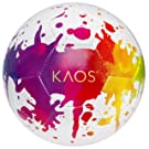 KAOS Soccer Ball Size 4– Outdoor Sports Training Recreational Soccer Ball for Girls and Boys, Mesh Bag Included