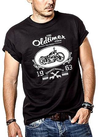 Camisetas con dibujos de Motos - Bonneville Hombre Negra S