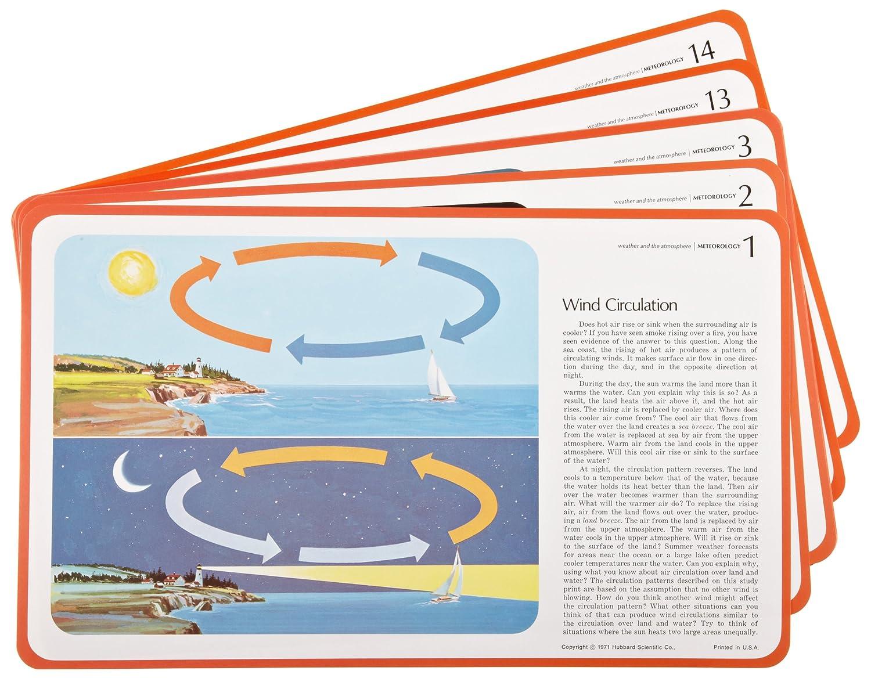 American Educational 14 Piece Meteorology Study Prints Set 750