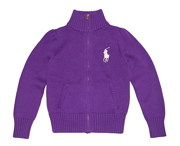 Ralph Lauren Polo Girls Cotton Knit Cable Cardigan Sweater ( L 12 - 14 )