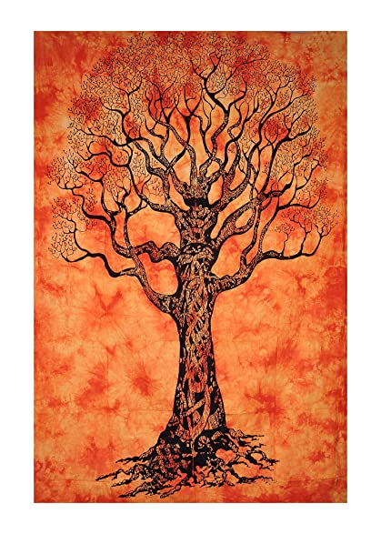 45fb6d3e82b6a UrbanDreamz-CLASSIC TREE OF LIFE INDIAN TAPESTRIES HIPPIE WALL HANGING  SINGLE BEDSPREAD VINTAGE WALL