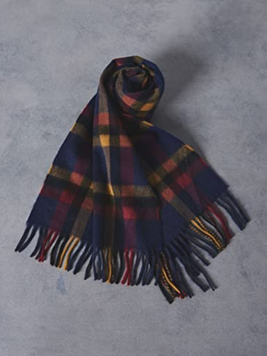 Wool Angora Scarf Camden 1336-499-3406: Cobalt