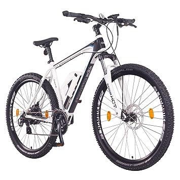 """NCM Prague Bicicleta eléctrica de montaña, 250W, Batería 36V 13Ah 468Wh (Blanco 29"""""""