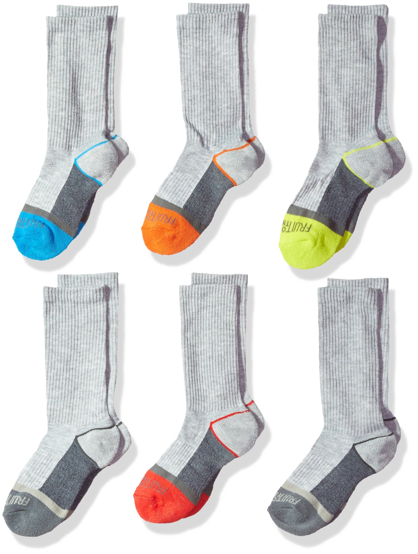 Fruit of the Loom Boys' 6 Pair Crew Sock