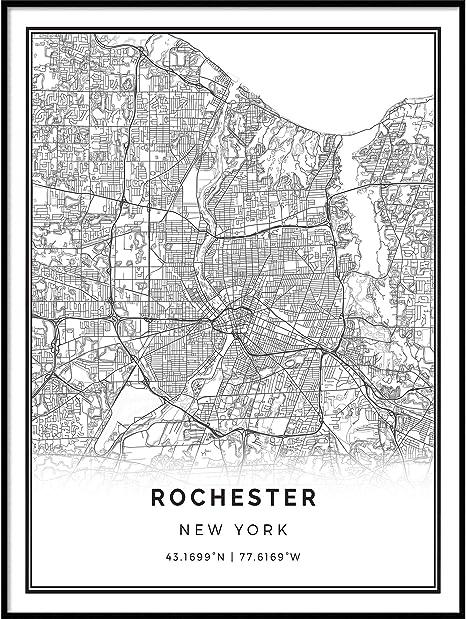 Map Artwork City maps Scandinavian Artwork United States gifts New York map print Minimalistic wall art poster M1