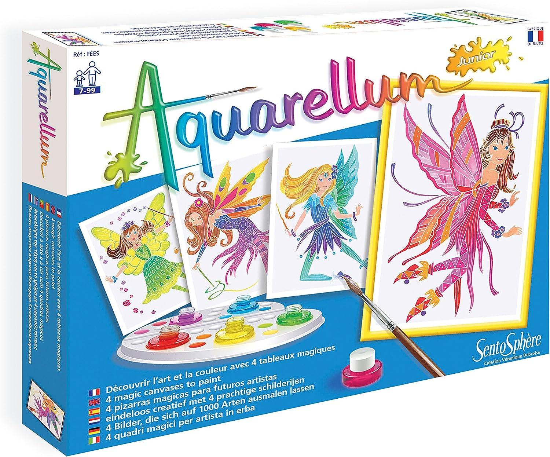 Sentosphere Aquarellum Junior Aquarium Fische  Malset 4 Ausmalbilder Komplettset