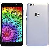 Fly EGO Art 3 IQ488 Android 5.1 Lollipop 5 inch QHD LCD Display 2 GB RAM 8 GB Internal Memory Dual SIM Dual HD Camera with Flash Light 3G Connetivity (White)