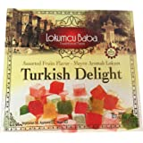 Turkish Delight with Assorted Fruits Flavor, Sweet Confectionery Gourmet Gift Box Candy Dessert 10.5 oz, Halal Vegan Turkish Delight