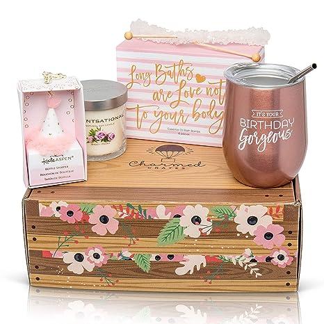 Amazon.com: Regalo de feliz cumpleaños para mujer: vaso de ...