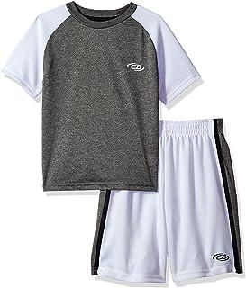 CB Sports Boys 2 Piece Performance T-Shirt and Short Set Tracksuit