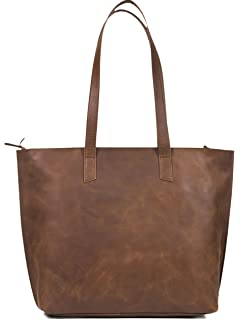 f8ef92c0a957 Women s Genuine Vintage Full Grain Thick Buffalo Leather Tote Bag Purse -  Best Quality Shoulder Travel