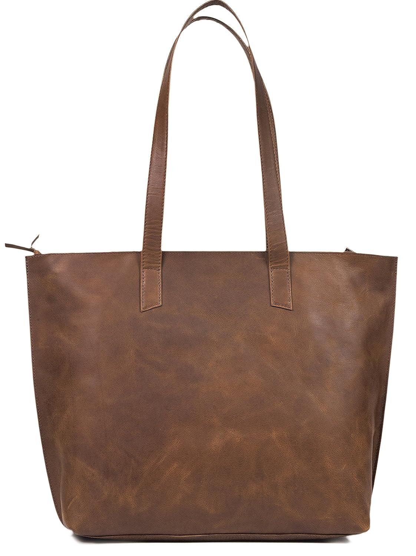 Amazon.com  Women s Genuine Vintage Full Grain Thick Buffalo Leather Tote  Bag Purse - Best Quality Shoulder Travel Handbag - The Aartisan  Shoes d865f935d9