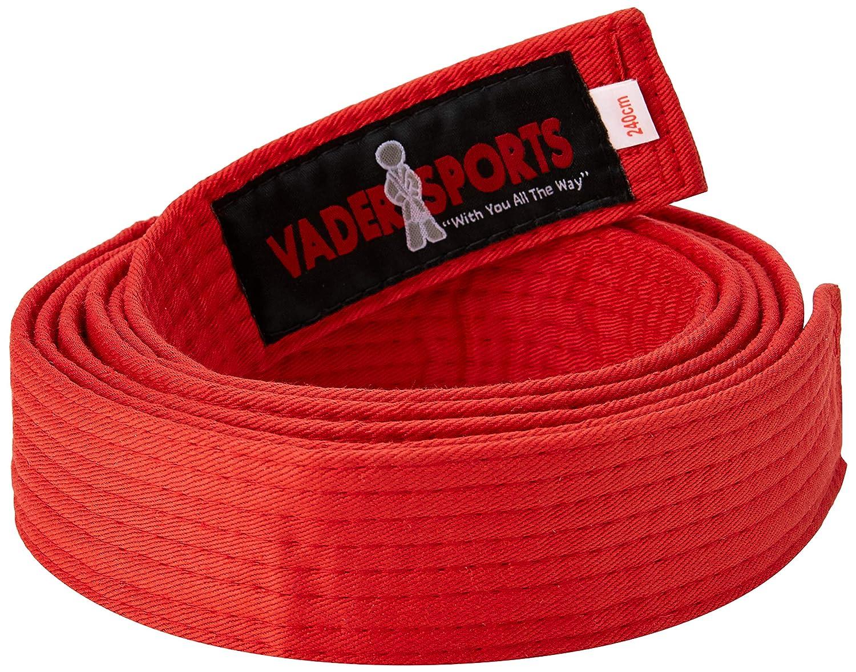 a9fab7f43eaf Vader Sports Ceintures Coton coloré Arts Martiaux karaté, Judo, BJJ,  Taekwondo  Amazon.fr  Sports et Loisirs