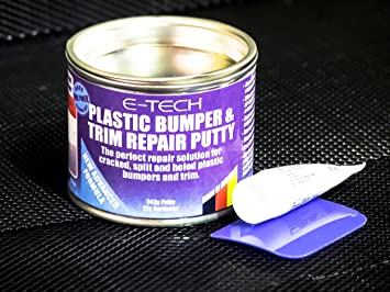 Masilla reparadora de embellecedores y parachoques de plástico de acabado liso para coches (solución reparadora