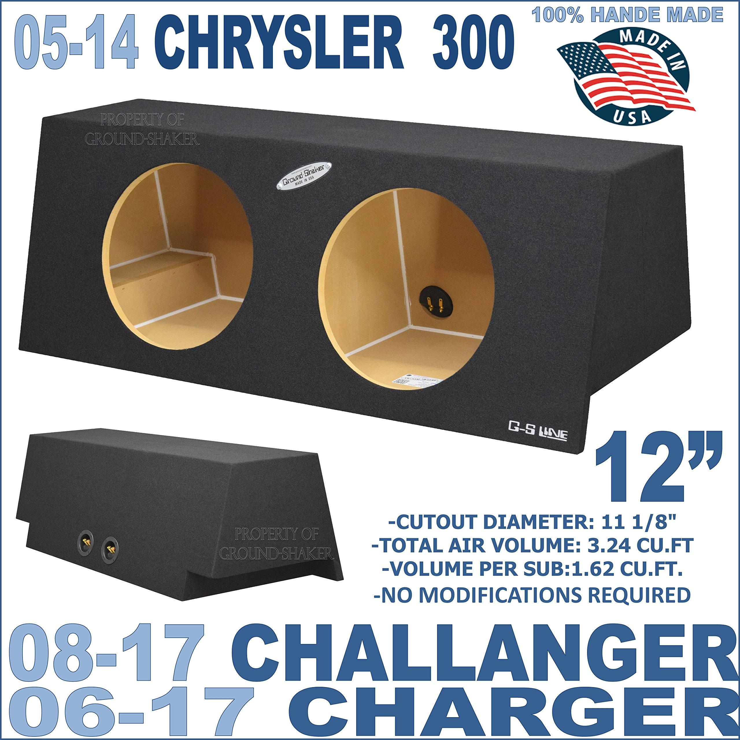 06-16 Dodge Charger, Challenger 08-15 & Chrysler 300 05-14 12'' Sub Box Subwoofer Enclosure