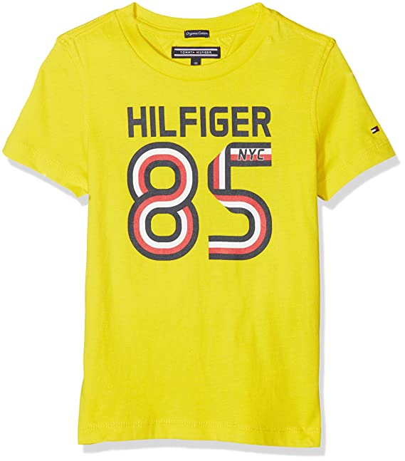 d06e188a8 Tommy Hilfiger Ame Global Stripe Series tee S/S Camiseta para Niños:  Amazon.es: Ropa y accesorios