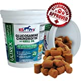 Premium Glucosamine For Dogs - Tasty Moist Chewble Joint Supplements Plus Krill Omega 3 Fish Oil Chondroitin MSM & Astaxanthin Hip and Joints Supplement Chew Treats Your Dog Will Love