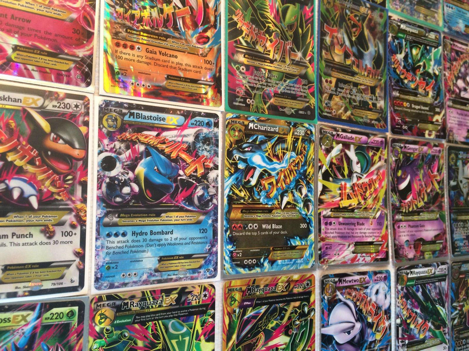 POKEMON~100 CARD LOT~GUARANTEED EX. MEGA EX. FULL ART HOLO OR SECRET RARE!