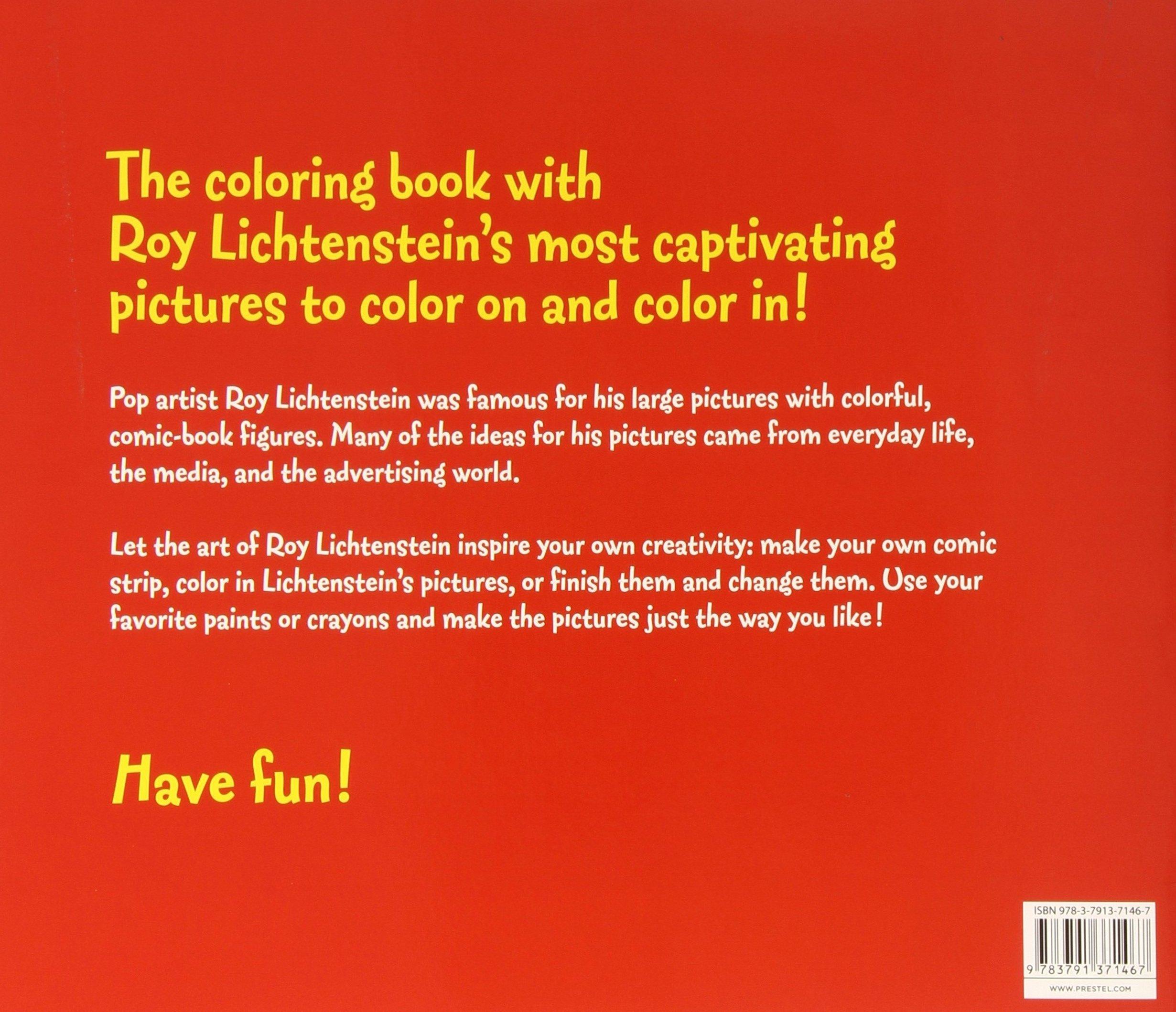 Roy lichtenstein coloring book prestel publishing 9783791371467 roy lichtenstein coloring book prestel publishing 9783791371467 amazon books voltagebd Images