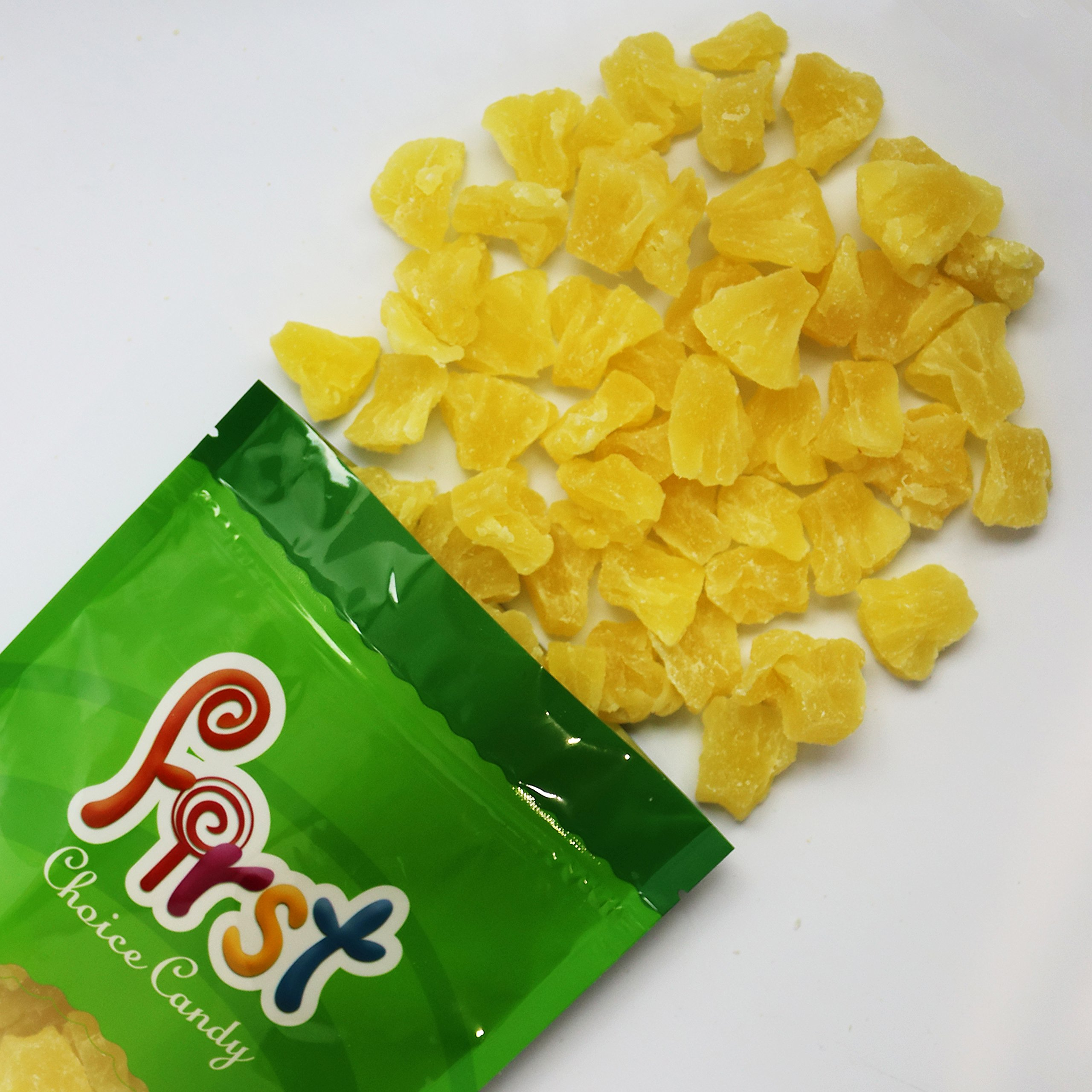 High Quality Pineapple Chunks 1 Pound 16 oz In FirstChoiceCandy Resealable Gift Bag