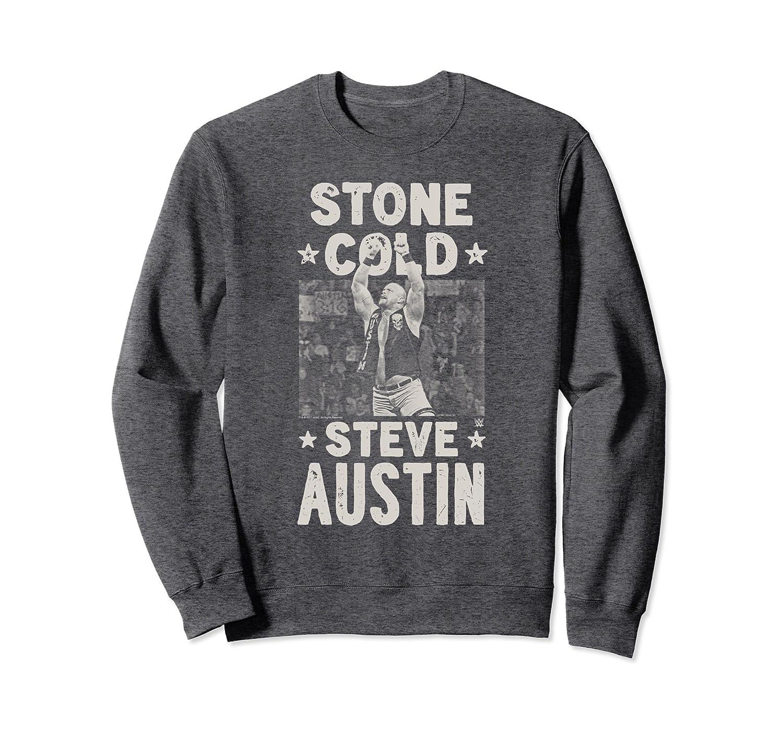 WWE Stone Cold Steve Austin 1 Color Arms Up Sweatshirt-Awarplus