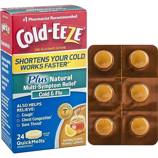 Amazon Com Cold Eeze Plus Natural Multi Symptom Relief Quickmelts