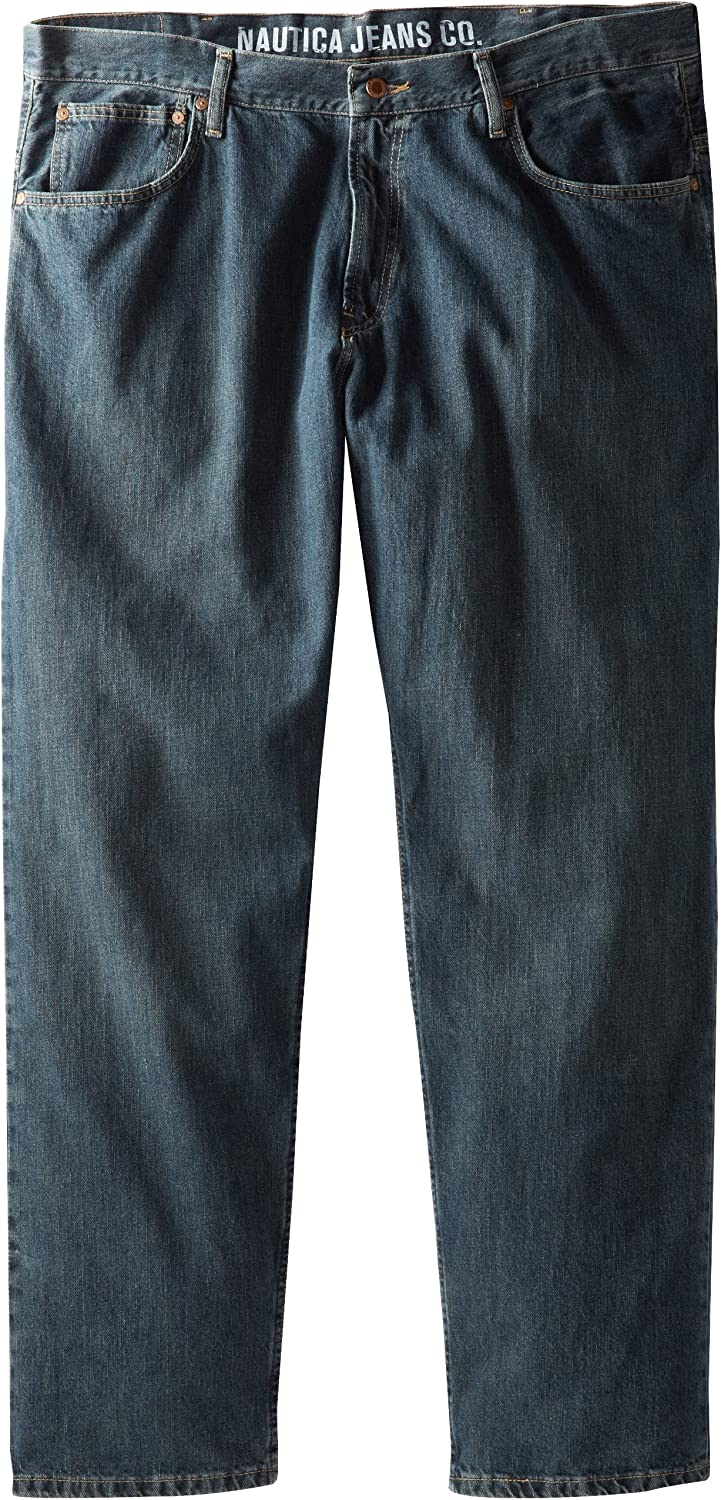 Nautica Mens Big//Tall Relaxed-Fit Jean