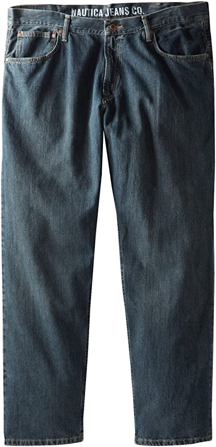 Nautica Mens Big/Tall Relaxed-Fit Jean