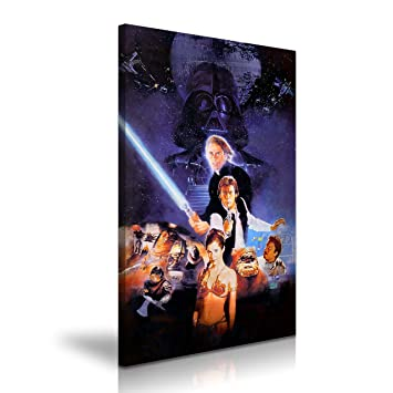 Star Wars Poster Return Of The Jedi Film Leinwand Kunstdruck 50 x 76 ...