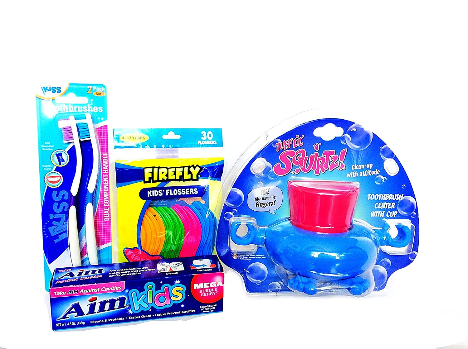 Kids Tooth Brush Toothpaste Dental Floss and Rinsing Cup Sink Station