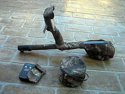 DetectorCovers Detector DE Metales MINELAB CTX3030 Maxi 6 Piezas Conjunto DE Cubierta EN Tela DE Camuflaje
