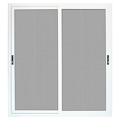 White Sliding Patio Security Door With Meshtec Screen
