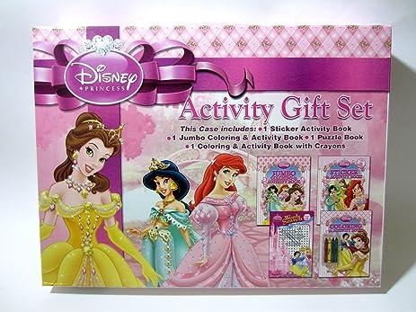 Disney Princess Coloring Activity Gift SET 4 Books