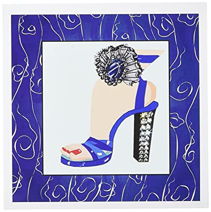 Amazon.com : 3dRose Royal Fashion Heels - Greeting Cards, 6 x 6 inches, set of 12 (gc_20585_2) : Blank Greeting Cards : Office Products