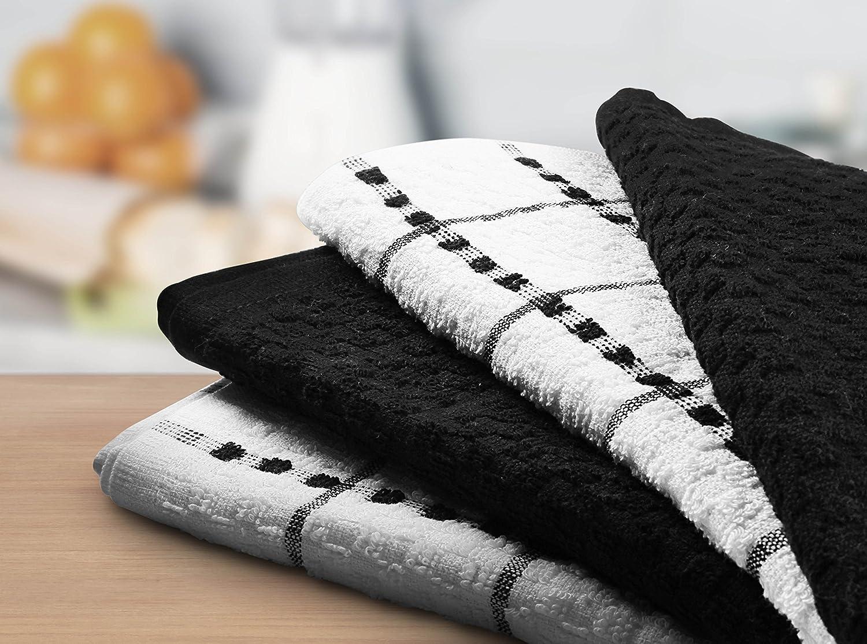 Utopia Tea Towels Black and White