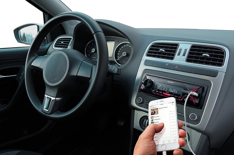 0,9 m Dual Bluetooth, NFC, USB, AUX Anschluss, Beleuchtung, 4 x 55 Watt, Freisprechen rot /& Basics Lightning auf USB A Kabel Apple MFi Zertifiziert Sony DSX-A410BT MP3 Autoradio Wei/ß