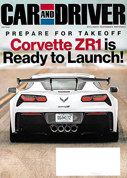 Amazon Com Car And Driver Magazine June 2018 Corvette Zr1 Tesla