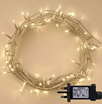 Outdoor Christmas Lights.Fairy Lights 100 Led 10m Warm White Indoor Outdoor Christmas Lights String Tree Lights Festival Bedroom Party Decorations Memory Mains Powered 32ft
