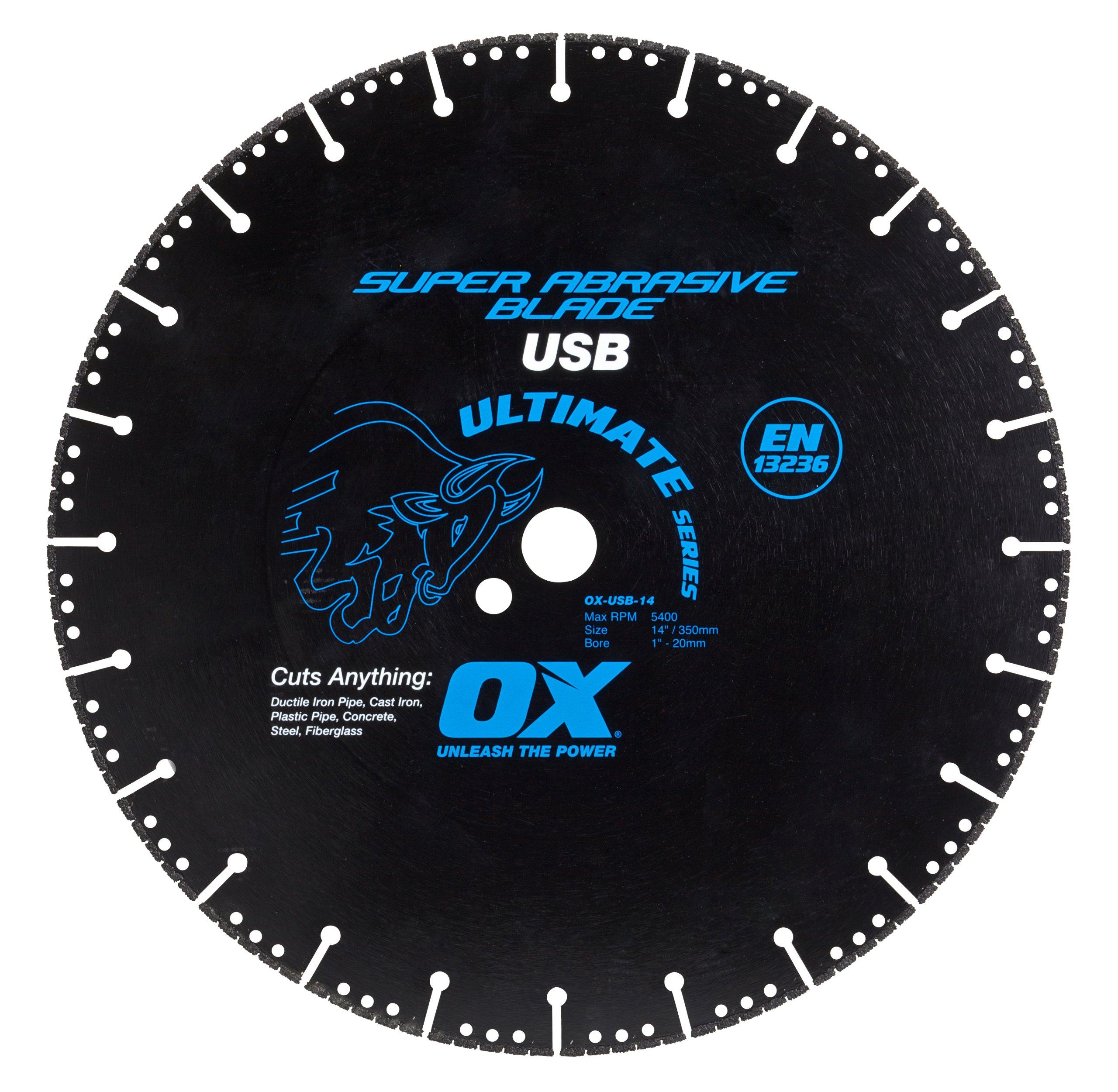 Disco de Diamante OX TOOLS súper abrasiva para corte de metales 12 | 1 - 20 mm de diámetro interior