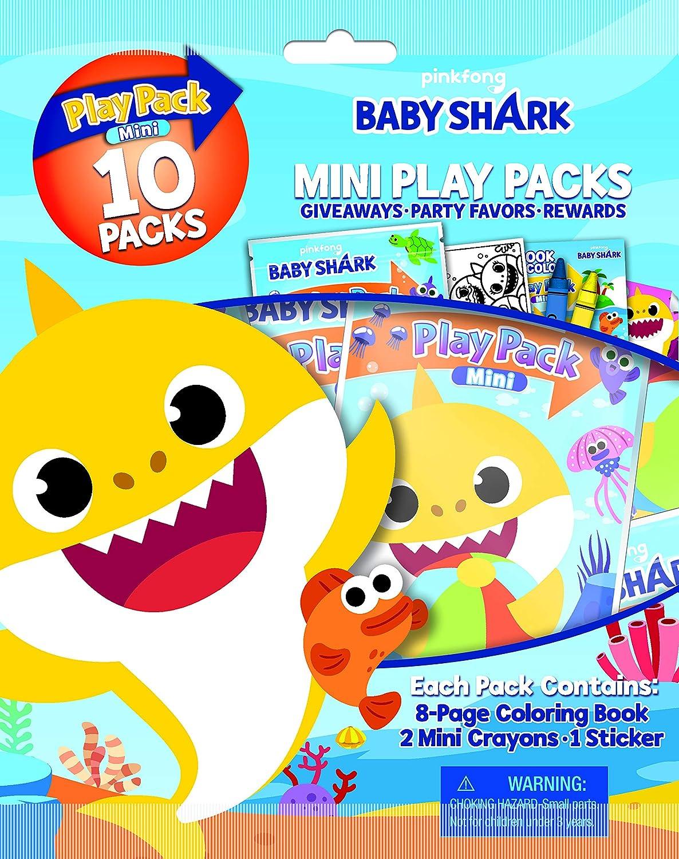 Bendon Baby Shark 10-Pack Mini Play Packs 47222