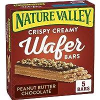 Nature Valley Crispy barras de oblea cremosa, mantequilla de maní, chocolate, 5 unidades
