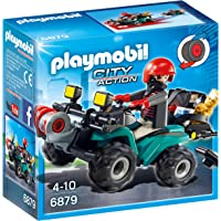 Playmobil Policía Robber's Quad with Loot Playset, (6879)