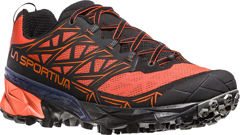 La Sportiva Akyra, Zapatillas de Trail Running para Hombre 46.5 EU|Multicolor (Tangerine/Black 000)
