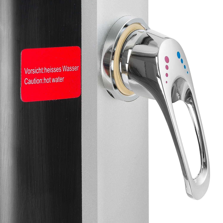 Arebos Solardusche 35 l 217 cm//Regulierbare Wassertemperatur//Mit Fu/ßdusche//Schwenkbarer Duschkopf