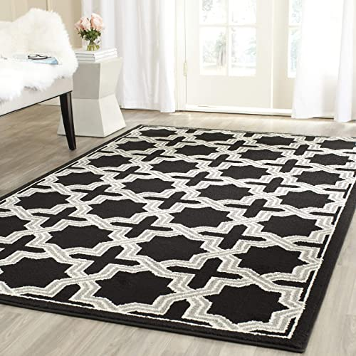 Safavieh Amherst Collection AMT418L Geometric Area Rug, 9 x 12 , Anthracite Grey