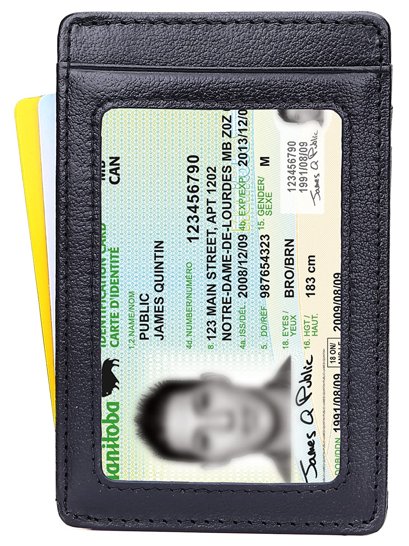 Mens Wallet Money Clip Leather RFID Blocking Magnetic Slim Front Pocket Wallet