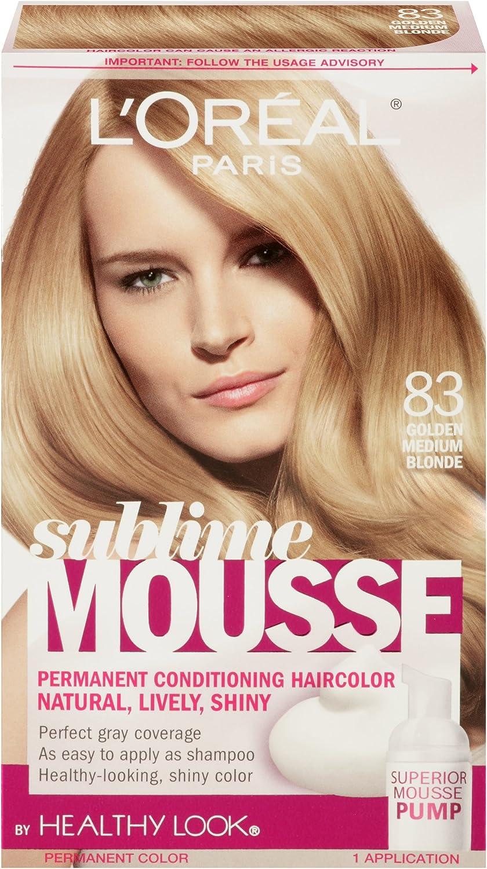 LOreal Paris Sublime Mousse by Healthy Look Hair Color, 83 Golden Medium Blonde by LOreal Paris