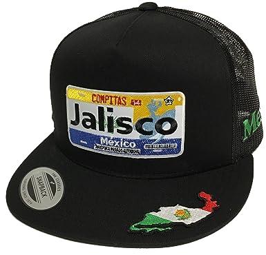 Placa De Jalisco 3 Logos Hat Black Mesh Snapback at Amazon Men s ... 2ee835cd702
